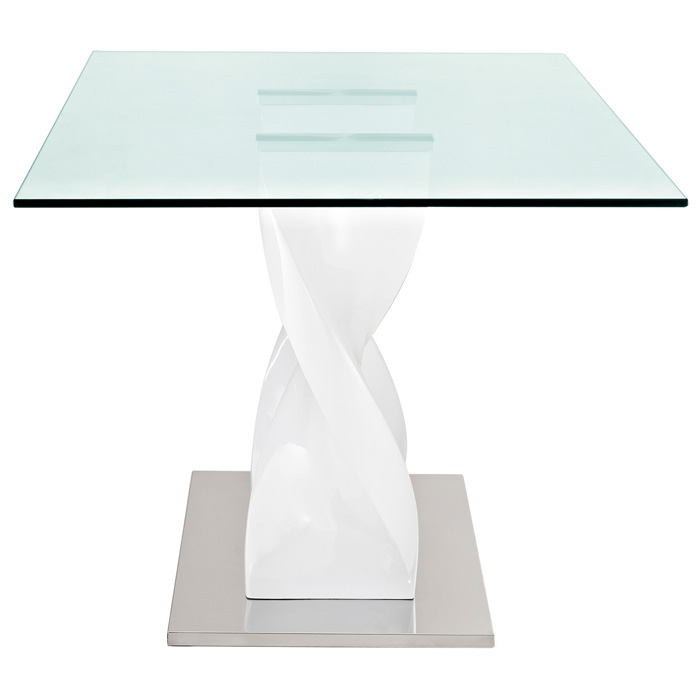 Twisted Rectangle Glass Top Dining Table - EEI-677