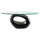 Omega Oval Glass Top Coffee Table