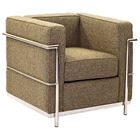 LC2 Wool Armchair - Stainless Steel, Oatmeal