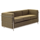 LC2 Wool Sofa - Stainless Steel, Oatmeal