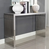 Gridiron Console Table - Stainless Steel