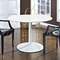 Revolve Round Dining Table - White - EEI-785-WHI