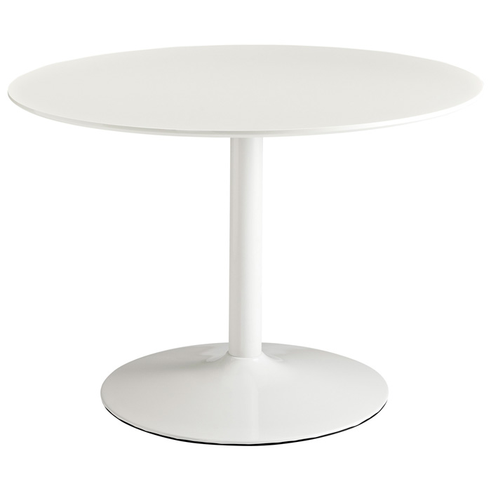 Revolve Round Dining Table - White