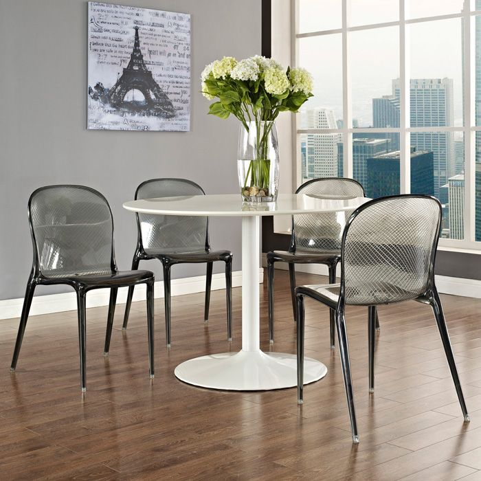 Scape Acrylic Dining Chair - Black - EEI-789-BLK