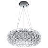 "Halo 20"" Acrylic Chandelier - Clear"