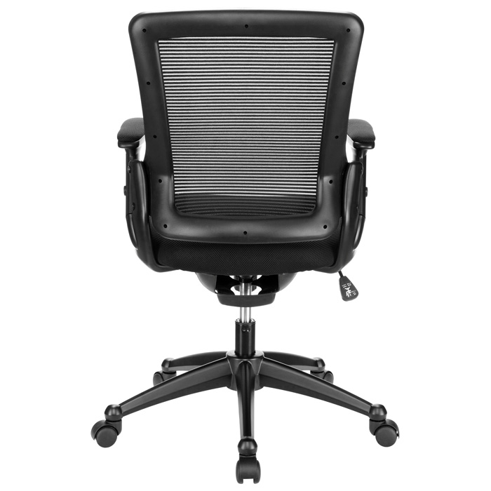 Aspire Office Chair - Mesh, Adjustable Arms, Black - EEI-827-BLK