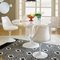 Lippa Saarinen 5 Piece Dining Set - Fiberglass Table, Plastic Chairs - EEI-854