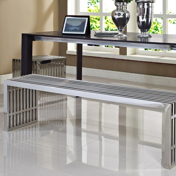 Gridiron Large & Small Bench Set - Stainless Steel