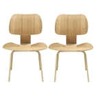 Fathom Wood Dining Chairs - Natural (Set of 2)