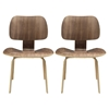Fathom Wood Dining Chairs - Walnut (Set of 2)