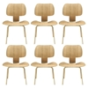 Fathom Wood Dining Chairs - Tan (Set of 6)