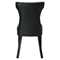 Silhouette Faux Leather Dining Chairs - Button Tufted, Black (Set of 2) - EEI-911-BLK