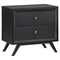 Tracy 2-Drawer Nightstand - Black - EEI-MOD-5240-BLK