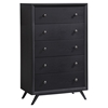 Tracy 5-Drawer Chest - Black
