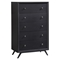 Tracy 5-Drawer Chest - Black - EEI-5242-BLK
