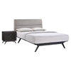 Addison 2 Pieces Queen Bedroom Set - Black, Gray