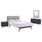 Addison 4 Pieces Queen Bedroom Set - Black, Gray - EEI-5266-BLK-GRY-SET