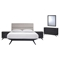 Addison 5 Pieces Queen Bedroom Set - Gray, Black - EEI-5267-BLK-GRY-SET