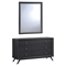 Tracy Dresser and Mirror - Black - EEI-5310-BLK-SET