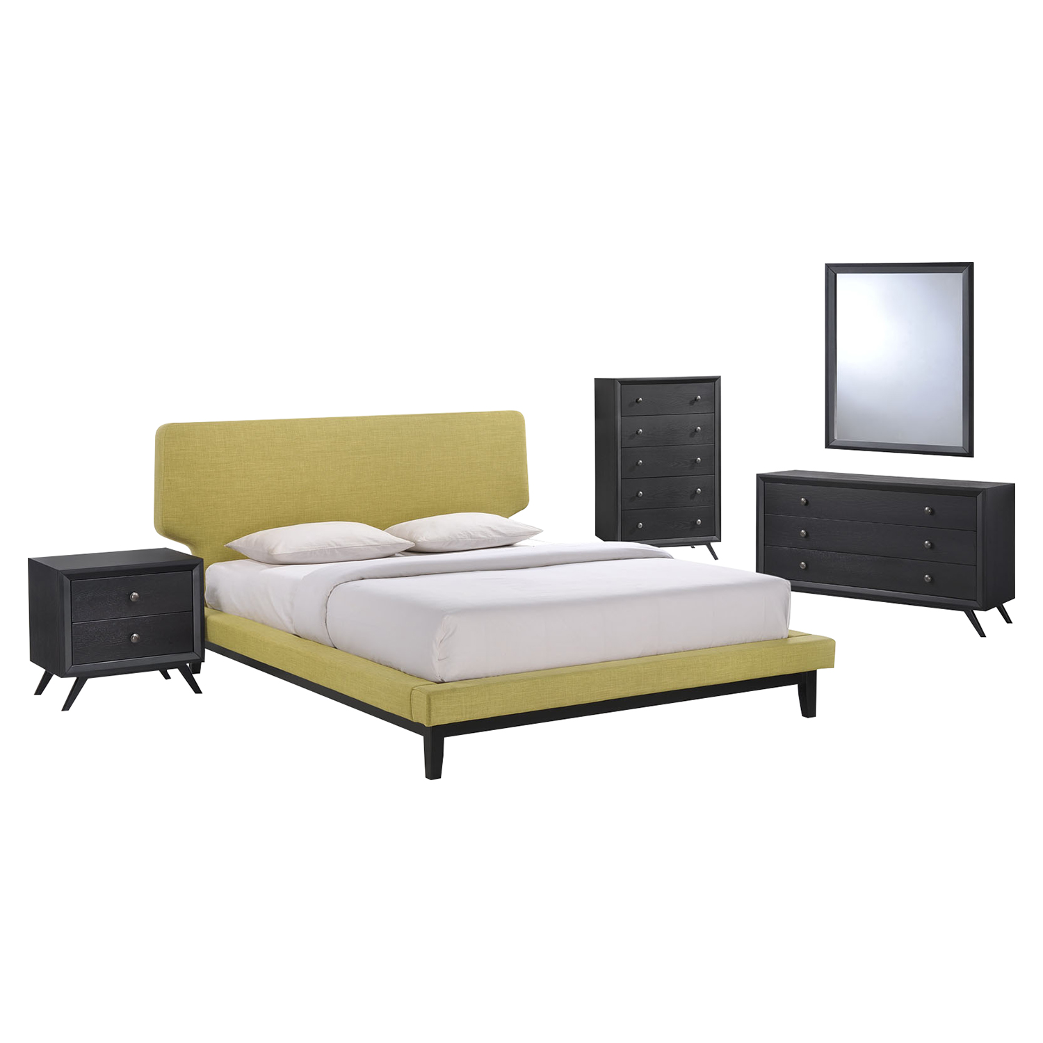 Bethany 5 Pieces Queen Platform Bedroom Set - EEI-MOD-5335-BLK-SET
