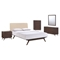 Tracy 5 Pieces Queen Bedroom Set - Cappuccino, Beige - EEI-MOD-5340-CAP-BEI-SET