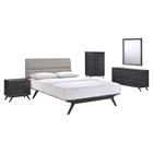Addison 5 Pieces Queen Bedroom Set - Black, Gray