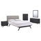 Addison 5 Pieces Queen Bedroom Set - Black, Gray - EEI-5341-BLK-GRY-SET