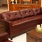 Carlton Brown Raisin Leather Sectional - ELE-CRL-SEC-LAFL-RAFL-CS-RAIS-1