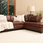 Corsario Leather Sectional Sofa with Right Facing Chaise
