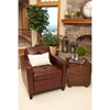 Carlton Top Grain Leather Accent Chair - Raisin