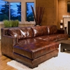 Davis Leather Chair and Sectional Set with Left Facing Chaise
