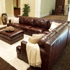 Easton 3 Piece Saddle Brown Sectional Sofa Set - Left Arm Sofa