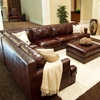 Easton 3 Piece Saddle Brown Sectional Sofa Set - Right Arm Sofa