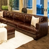 Easton Leather Sectional with Ottoman - Right Arm Sofa