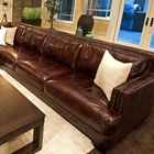 Easton Saddle Brown Leather Sectional with Right Arm Sofa