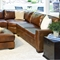 Carlyle Rustic Brown Leather Sectional and Ottoman Set - ELE-CAR-2PC-LAFL-RAFL-CS-CO-RUST-1
