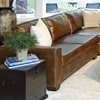 Carlyle Rustic Brown Leather Sectional Sofa