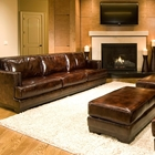 Emerson 5 Piece Leather Living Room Set in Saddle Brown