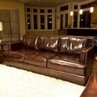 Emerson Top Grain Leather Sofa in Saddle Brown