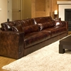 Laguna 3 Piece Leather Sofa Set in Saddle Brown