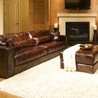 Laguna 4 Piece Saddle Brown Leather Sofa Set