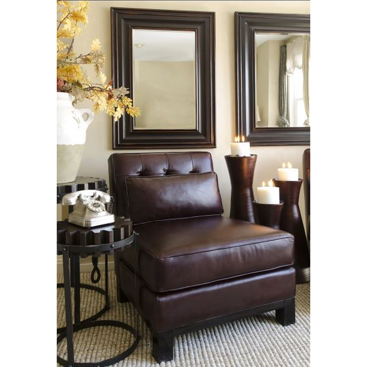 Lars Top Grain Leather Standard Chair - Sable