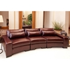 Loft Top Grain Leather Curved Sectional in Sable
