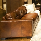 Soho 3 Piece Rustic Brown Leather Sofa Set w/ Oversized Chairs