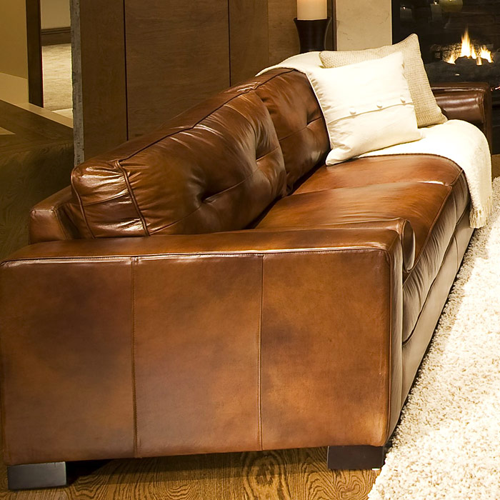 Soho 3 Piece Rustic Brown Leather Sofa Set w/ Oversized Chairs - ELE-SOH-3PC-S-OC-OC-RUST-1