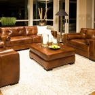 Soho Rustic Brown Leather Sofa and Chairs Set