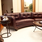 Vittorio Mahogany Top Grain Leather Curved Sectional