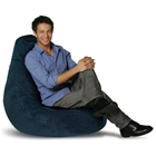 Plush Pear Shape Bean Bag Chair - Navy Blue