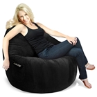 Sitsational Extra Large Bean Bag Chair - Black Corduroy
