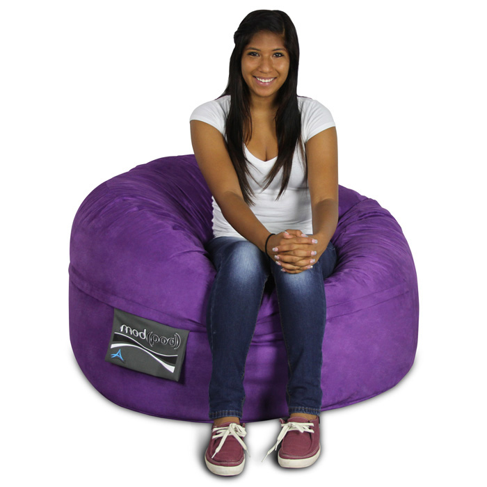 Mod Pod Bean Bag for Kids - Purple Suede - EL-32-7014-1009